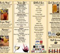 Beer/wine Menu 2020 Tabletop No Prices!!!