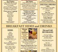 Breakfast Menu 2020 No Prices!!!